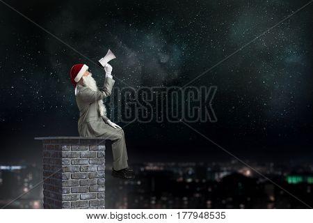 Santa is coming . Mixed media . Mixed media