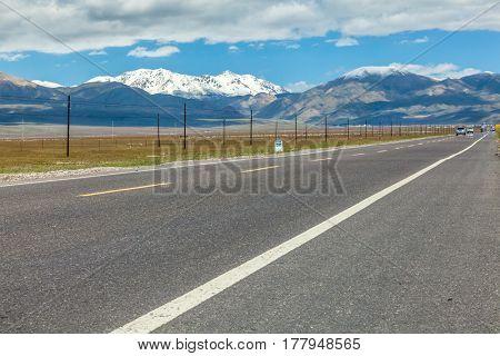 road through the grassland