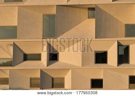 LEON, SPAIN - JULY 26, 2016: Leon (Castilla y Leon Spain): exterior of the modern Auditorium in the Park Explanada de la Junta