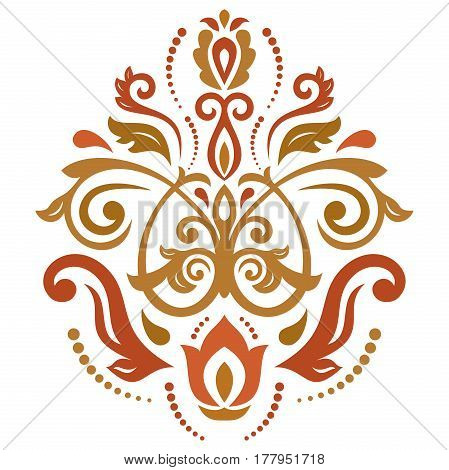 Oriental colorful pattern with arabesques and floral elements. Traditional classic ornament