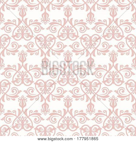 Damask classic pink pattern. Seamless abstract background with repeating elements