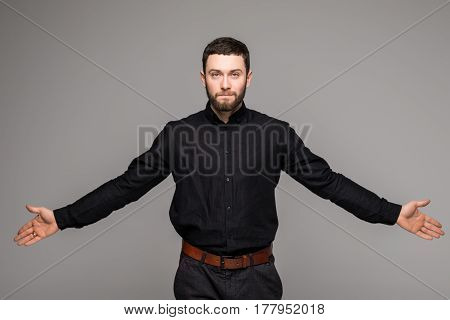 Handsome Young Businessman While Standing