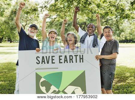 Go Green Save Earth Concept