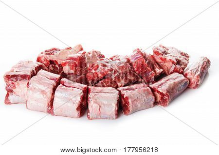 Oxtail Isolated On A White Background
