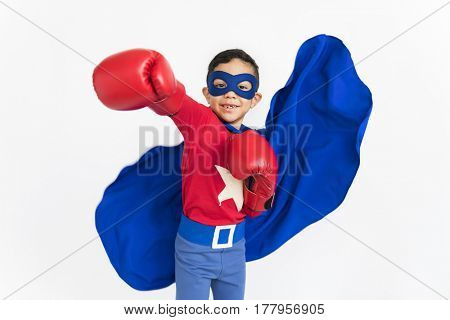 Boy Superhero Brave Child Gutsy Kid Concept