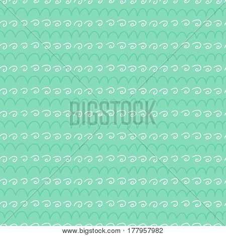 Doodles cute seamless pattern. Color vector background with different elements. Design for T-shirt, textile and prints.