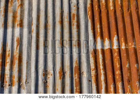 Old Corrugated Metal Roof.