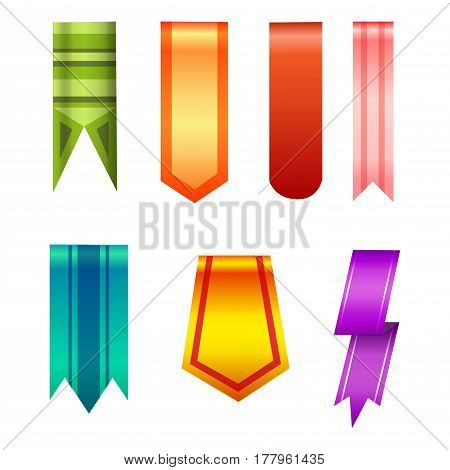 Vertical banners realistic style collection vector art