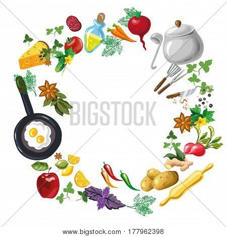 Cooking class flayer template. Cooking hands outlines isolated on white background vector
