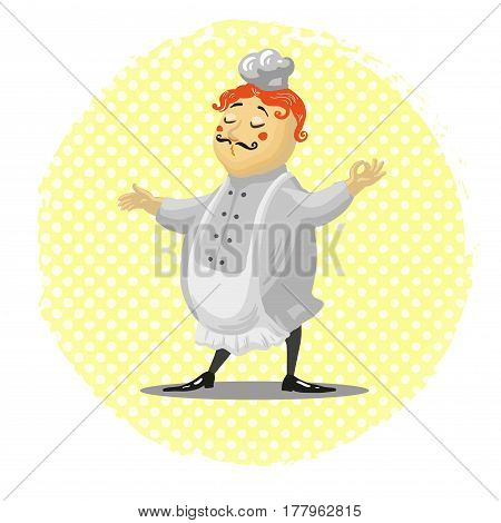 chef cartoon style cute character vector illustration art