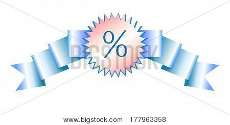 Sale realistic gradient banner vector art for stock