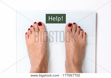 Woman Feet On Weight Scales