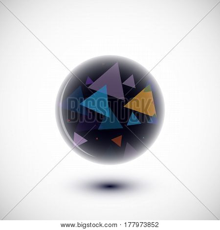 Abstract Sphere With Multiple Elements Inside