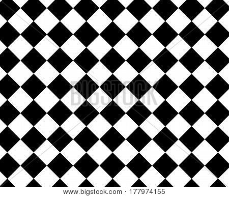 Black And White Checkered Hypnotic Pattern For Chess Or Psychedelic Experience