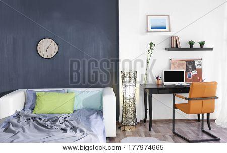 Design interior of teenage boy room