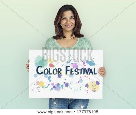 Color Festival Blooming Creative Design Burst