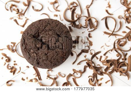 Chocolate Muffin With Shredded Pieces