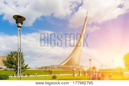 Monument to the Conquerors of Space in Moscow Russia