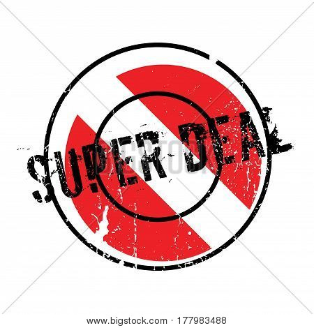 Super Deal rubber stamp. Grunge design with dust scratches. Effects can be easily removed for a clean, crisp look. Color is easily changed.