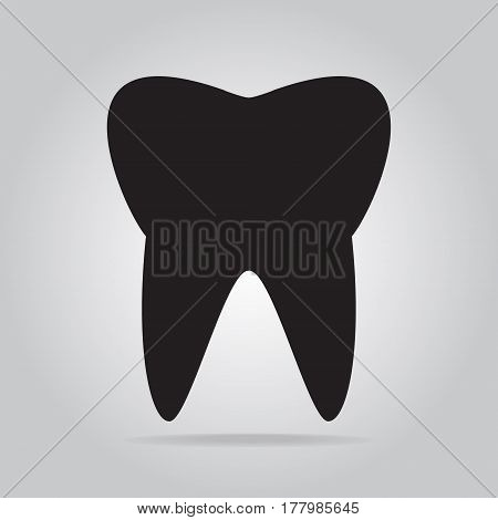 Tooth icon dentist icon medical sign illustration
