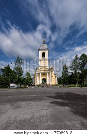 The old Church in Myshkin, Russia summer