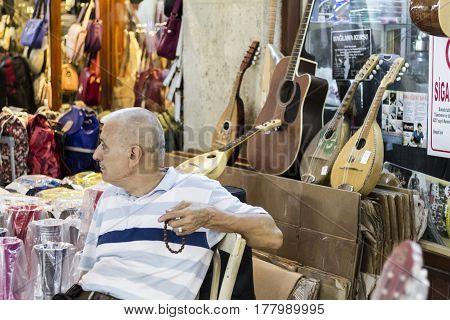View Of People In Arasta Bazaar In Edirne, Turkey.