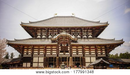 Main Hall Of Todai-ji Temple In Nara, Japan