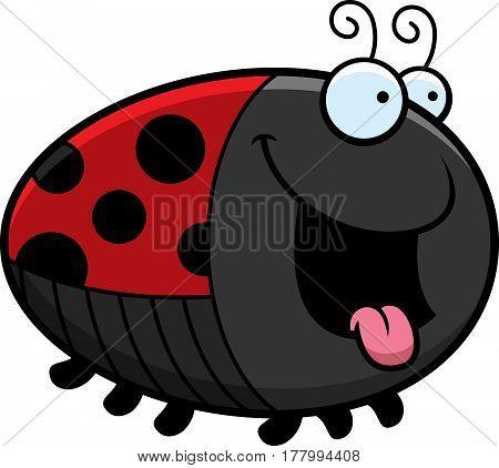 Hungry Cartoon Ladybug