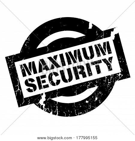 Maximum Security rubber stamp. Grunge design with dust scratches. Effects can be easily removed for a clean, crisp look. Color is easily changed.