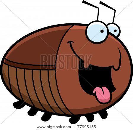 Hungry Cartoon Cockroach