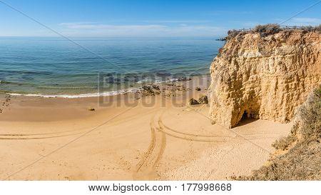 Scenic Golden Cliffs Near Alvor