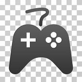 Gamepad icon. Vector illustration style is flat iconic symbol with gradients, transparent background. Designed for web and software interfaces. poster