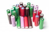 Lithium ion 18650 size industrial high current batteries poster
