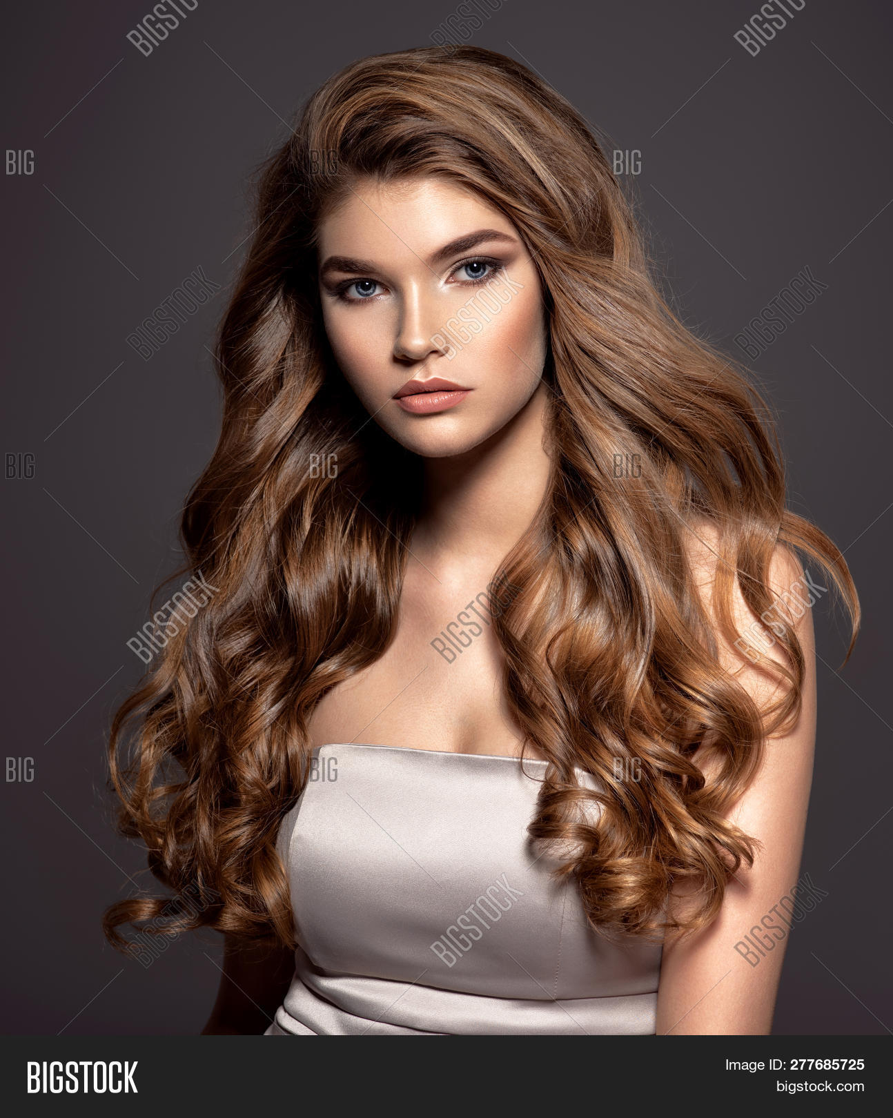 Young Brown Haired Image Photo Free Trial Bigstock