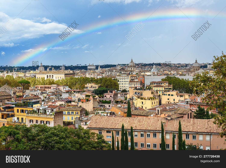Rainbow Over Rome Image Photo Free Trial Bigstock