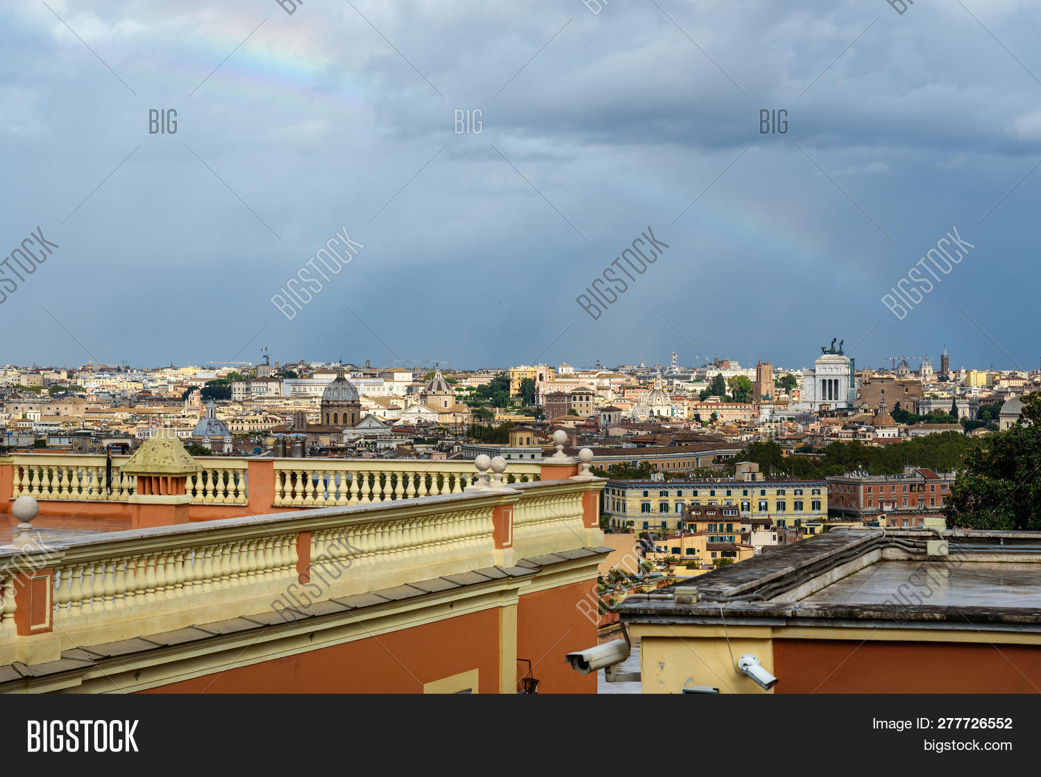 Rainbow Over Rome Image Photo Free Trial Bigstock