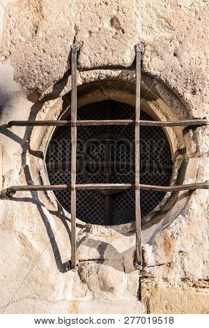 Round Window Of A Historical Old Building