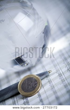 Euro coins and business