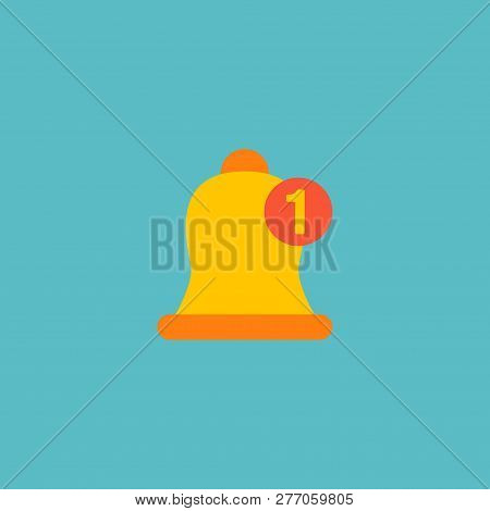 Notification Icon Flat Element. Vector Illustration Of Notification Icon Flat Isolated On Clean Back