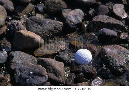 Golf On Rocky Beach