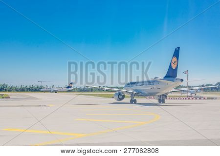 Munich - Germany - July 03, 2017: Airbus A320-200 Lufthansa. Lufthansa, Is The Largest German Airlin
