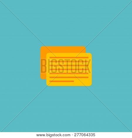 Task Icon Flat Element.  Illustration Of Task Icon Flat Isolated On Clean Background For Your Web Mo