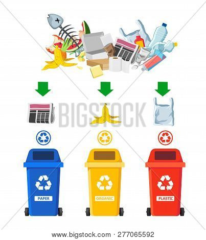 Rubbish Bins Vector & Photo (Free Trial) | Bigstock
