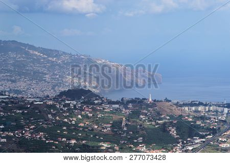 Looking At Landscape Of Portuguese Island Of Madeira From Cabo Girao View Point