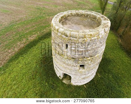 View Of The Ancient Tower, Tourny, Normandy, France