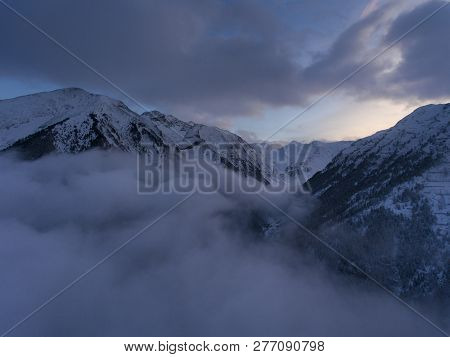 View Of Mountains In Aragnouet, Hautes-pyrenees, Occitanie, France