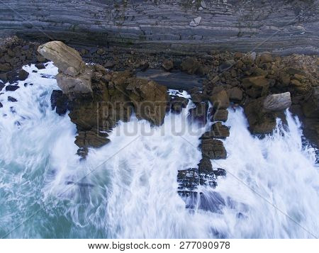 Los Urros Beach In Liencres, Cantabria, Spain