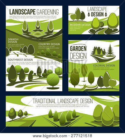 Landscaping Service, Landscape Design And Park Planning, Lawn Care And Gardening. Landscaping Mainte