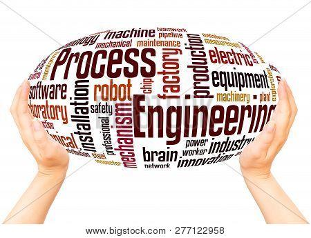 Process Engineering Word Cloud Hand Sphere Concept