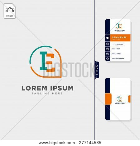 Minimal Ie, Initial Logo Template Vector Illustration Free Business Card Design Template